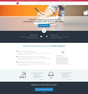 Webinar-Landing-Page