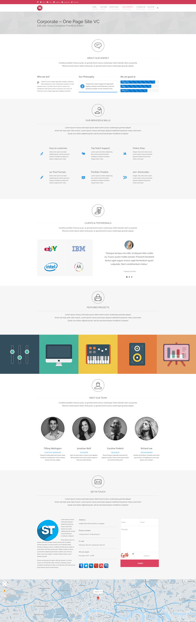 Corporate One Page Site